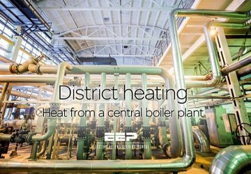 District heating – Heat from a central boiler plant (on photo: Gazprom Heat supply block of reconstructed boiler house)