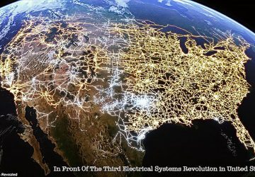 The U.S. electricity seen as never before, with its cities connected through a vast network