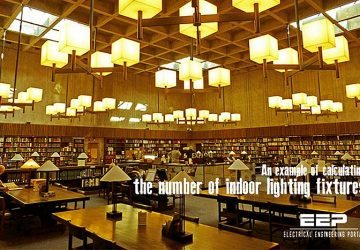 An example of calculating the number of indoor lighting fixtures