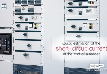 Quick estimation of the short-circuit current at the end of a feeder