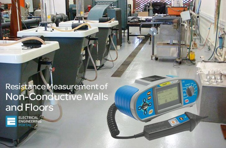 Resistance Measurement of Non-Conductive Walls and Floors