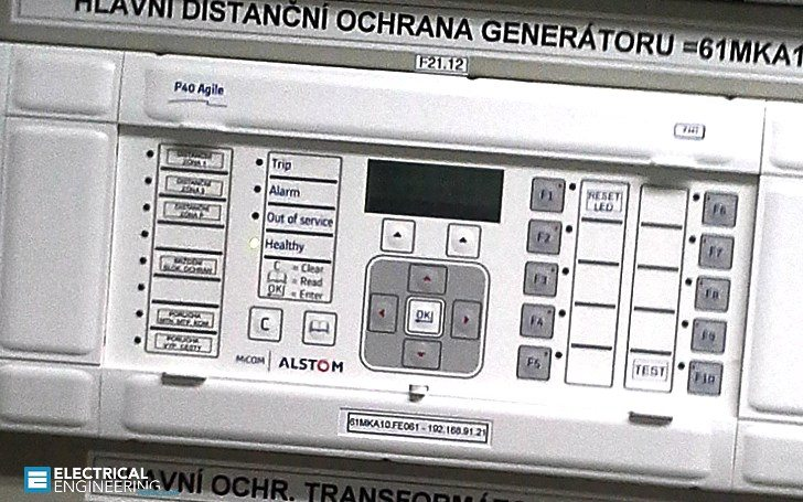 Setting the generator protective relay functions