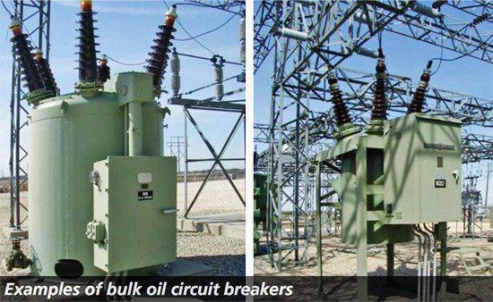 Bulk oil circuit breakers