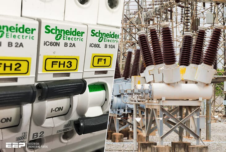 Main types and technologies of circuit breakers (from 1000 V MCB to 1000 kV dead tank breaker)