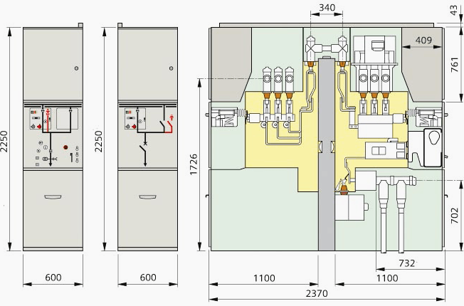 Gas-insulated switchgear NXPLUS C (double-busbar)