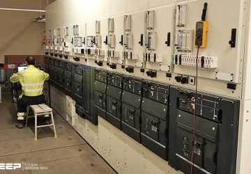 Coordination for a typical 13 kV distribution feeder of several lines at a substation