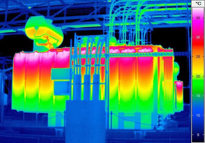 Thermography inspection of the power transformator
