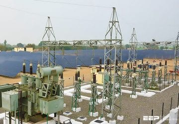 60 MW grid tied solar power plant with an attached 11 5kV/34.5 kV substation