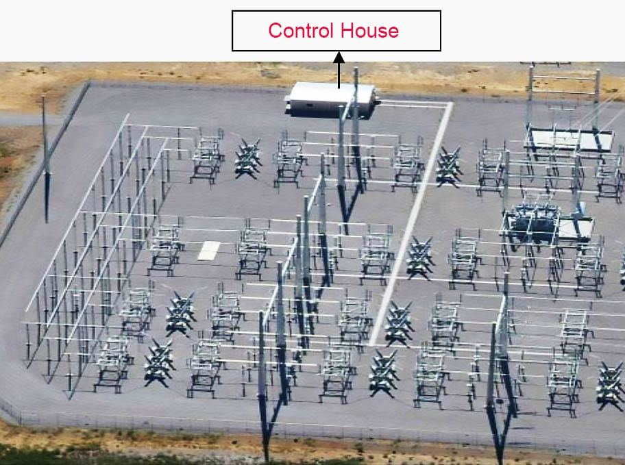 Location of control house in power substation