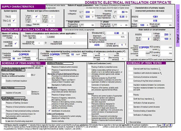 Electrical Certificate Templates Free To Download
