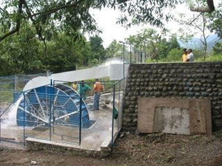 The mini-hydro plant in Sitio Campuestohan will provide power for 40 households