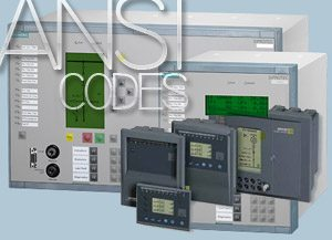 ANSI codes for protection relays