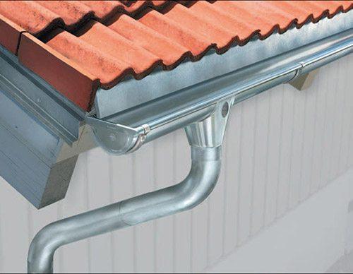Zinc rain gutters